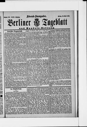 Berliner Tageblatt und Handels-Zeitung vom 20.04.1900