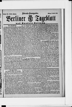 Berliner Tageblatt und Handels-Zeitung vom 23.04.1900