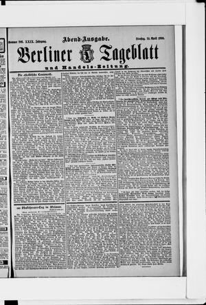 Berliner Tageblatt und Handels-Zeitung vom 24.04.1900