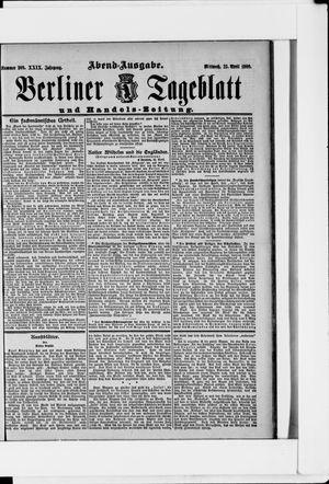 Berliner Tageblatt und Handels-Zeitung vom 25.04.1900