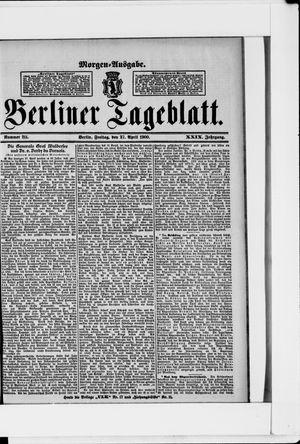 Berliner Tageblatt und Handels-Zeitung vom 27.04.1900