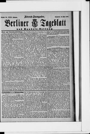Berliner Tageblatt und Handels-Zeitung vom 28.04.1900
