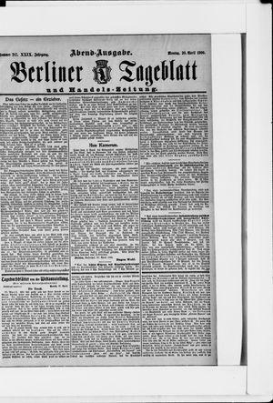Berliner Tageblatt und Handels-Zeitung vom 30.04.1900