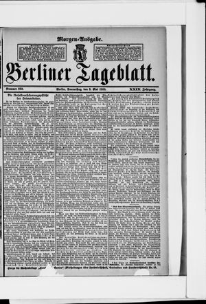 Berliner Tageblatt und Handels-Zeitung vom 03.05.1900
