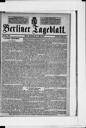 Berliner Tageblatt und Handels-Zeitung vom 06.05.1900