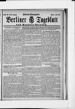 Berliner Tageblatt und Handels-Zeitung vom 07.05.1900