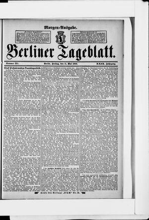 Berliner Tageblatt und Handels-Zeitung vom 11.05.1900
