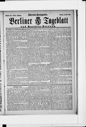 Berliner Tageblatt und Handels-Zeitung vom 14.05.1900