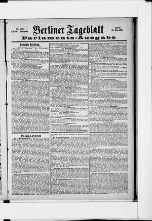 Berliner Tageblatt und Handels-Zeitung vom 15.05.1900