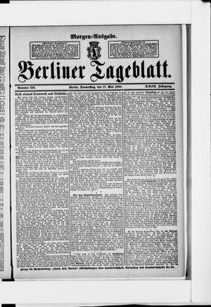 Berliner Tageblatt und Handels-Zeitung vom 17.05.1900