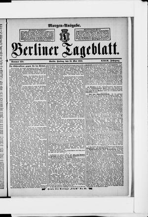 Berliner Tageblatt und Handels-Zeitung vom 18.05.1900
