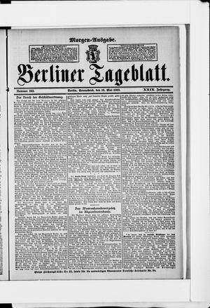 Berliner Tageblatt und Handels-Zeitung vom 19.05.1900