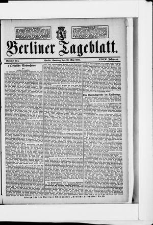 Berliner Tageblatt und Handels-Zeitung vom 20.05.1900
