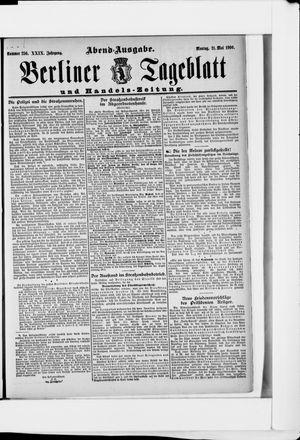 Berliner Tageblatt und Handels-Zeitung vom 21.05.1900