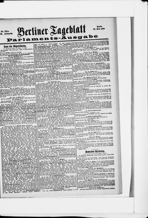 Berliner Tageblatt und Handels-Zeitung vom 23.05.1900