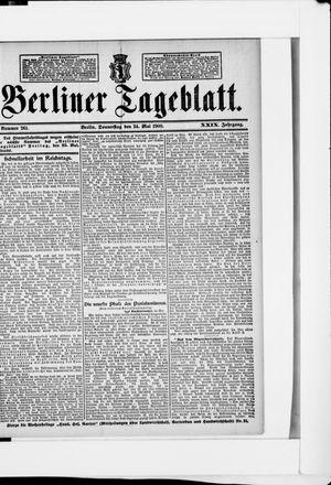 Berliner Tageblatt und Handels-Zeitung vom 24.05.1900