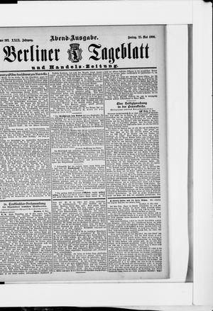 Berliner Tageblatt und Handels-Zeitung on May 25, 1900