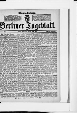 Berliner Tageblatt und Handels-Zeitung vom 26.05.1900