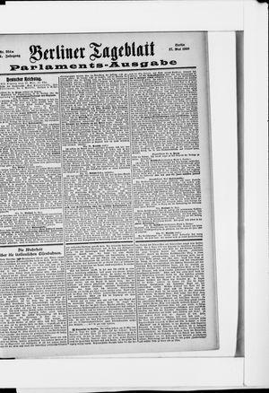 Berliner Tageblatt und Handels-Zeitung vom 27.05.1900