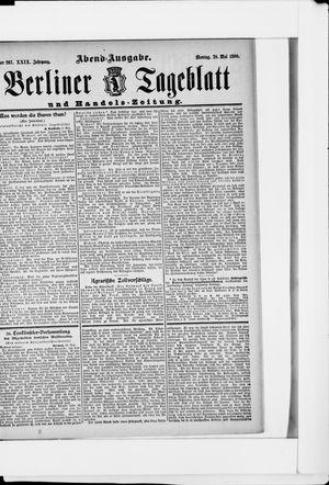 Berliner Tageblatt und Handels-Zeitung on May 28, 1900