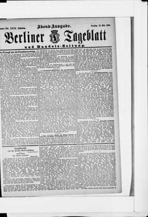 Berliner Tageblatt und Handels-Zeitung vom 29.05.1900
