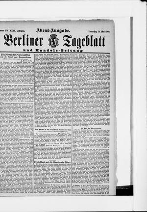 Berliner Tageblatt und Handels-Zeitung vom 31.05.1900