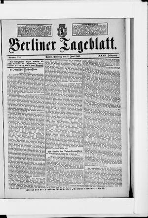 Berliner Tageblatt und Handels-Zeitung vom 03.06.1900
