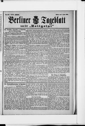 Berliner Tageblatt und Handels-Zeitung vom 05.06.1900