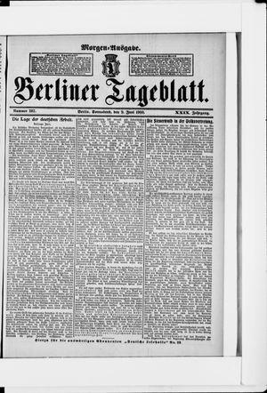 Berliner Tageblatt und Handels-Zeitung vom 09.06.1900