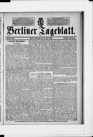 Berliner Tageblatt und Handels-Zeitung vom 10.06.1900