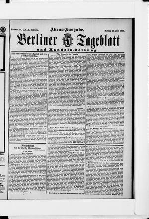 Berliner Tageblatt und Handels-Zeitung vom 11.06.1900