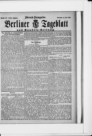 Berliner Tageblatt und Handels-Zeitung vom 14.06.1900