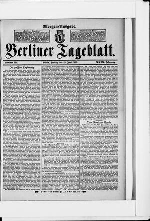 Berliner Tageblatt und Handels-Zeitung vom 15.06.1900