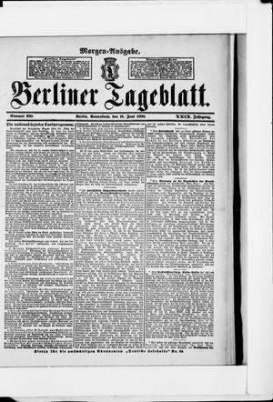 Berliner Tageblatt und Handels-Zeitung vom 16.06.1900