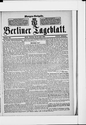 Berliner Tageblatt und Handels-Zeitung vom 19.06.1900