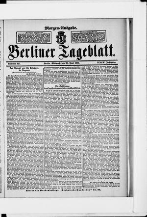 Berliner Tageblatt und Handels-Zeitung vom 20.06.1900