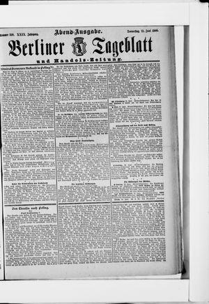 Berliner Tageblatt und Handels-Zeitung vom 21.06.1900
