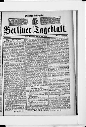 Berliner Tageblatt und Handels-Zeitung vom 23.06.1900