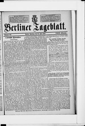 Berliner Tageblatt und Handels-Zeitung vom 24.06.1900