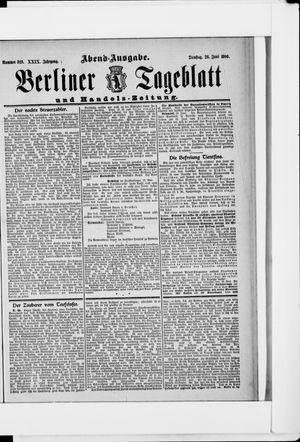 Berliner Tageblatt und Handels-Zeitung vom 25.06.1900