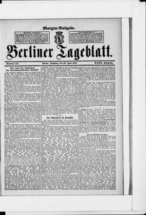 Berliner Tageblatt und Handels-Zeitung vom 26.06.1900