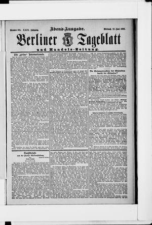 Berliner Tageblatt und Handels-Zeitung vom 27.06.1900