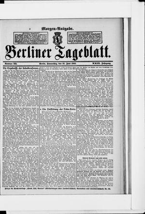 Berliner Tageblatt und Handels-Zeitung vom 28.06.1900