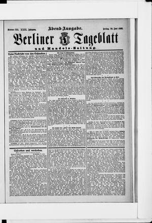 Berliner Tageblatt und Handels-Zeitung vom 29.06.1900