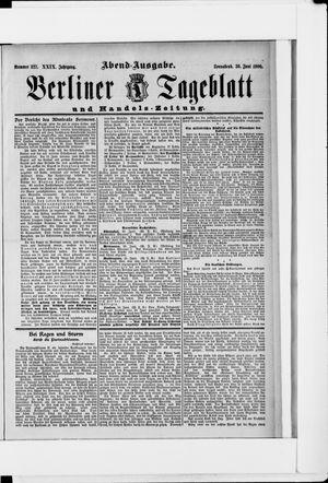 Berliner Tageblatt und Handels-Zeitung vom 30.06.1900