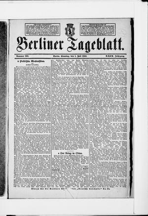 Berliner Tageblatt und Handels-Zeitung vom 01.07.1900