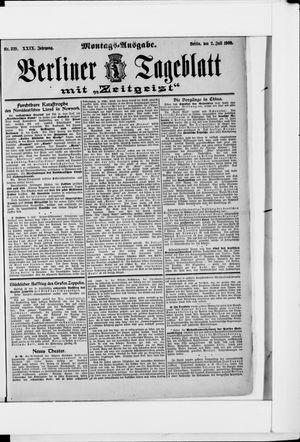 Berliner Tageblatt und Handels-Zeitung vom 02.07.1900