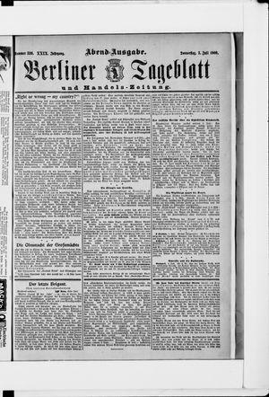 Berliner Tageblatt und Handels-Zeitung vom 05.07.1900