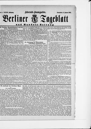 Berliner Tageblatt und Handels-Zeitung on Jan 3, 1903