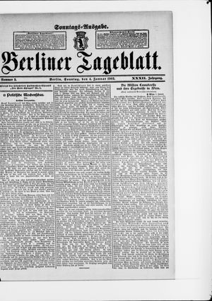 Berliner Tageblatt und Handels-Zeitung vom 04.01.1903